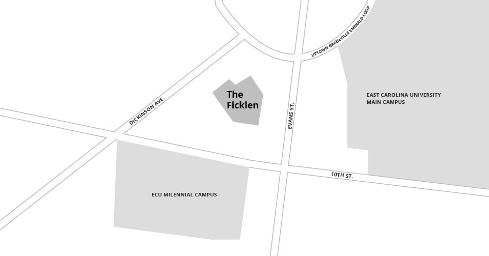 Map of The Ficklen, how to get to the Ficklen in Greenville NC